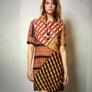Anthropologie Tanvi Kedia Dress Beaded Print Sz XS